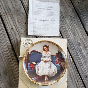 Waiting at the Dance Norman Rockwell plate